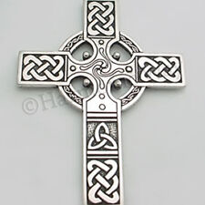 """Extra Large"" CELTIC CROSS ~ Detailed Pendant Necklace Celtic Knot Work"