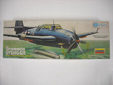 "Vintage Lindberg Grumman Avenger 1/4"" = 1 Foot Scale Model Airplane Kit #5311"