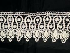 1 Yard Ivory Venice Lace Venise Trim 3 1/4 inch Wide SHIPS FROM USA