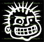 PUNK - Head Face - Cars /SUV's/Trucks Vinyl Die-Cut Peel N' Stick Decal/Sticker