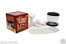 EZ Press N Grill Burger Maker Storage Container Perfect Patty Hamburger BP-1 NEW