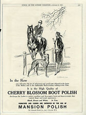 GREYHOUND DOG FINE ART ANTIQUE ORIGINAL ADVERTISING PRINT Cherry Blossom advert