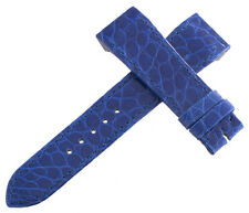 Jaeger LeCoultre Reverso OEM 19x16mm Blue Alligator Leather Watch Band Strap