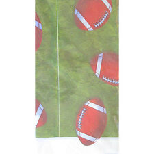 FOOTBALL Go Team PLASTIC TABLE COVER ~ Supplies Birthday Cloth Decoration Sports