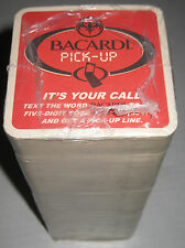 Bacardi Liquor Pick-Up Line Sleeve Beer Coasters New in Package 200