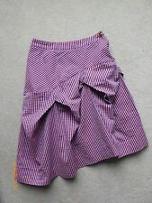 VIVIENNE WESTWOOD Red Label Purple and White Striped Abstract Skirt