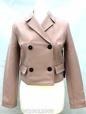 ZARA NUDE SHORT DOUBLE BREASTED BLAZER JACKET SIZE MEDIUM