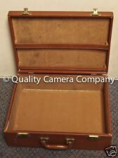 "Retro Leather Suite Case (LWH) 17x13x5.5"" BROWN LEATHER"