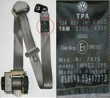 VW GOLF MK4 SEAT BELT PASSENGERS SIDE FRONT 5 DOOR GRAY 1J4 857 705 H