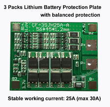 3S 25A PCB BMS Protection Board For 3 Packs 18650 Li-ion lithium Battery Cell 3S