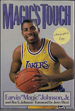 "AUTOGRAPHED HAND SIGNED Magic's Touch by Earvin ""Magic"" Johnson Jr.COA FREE SHIP"