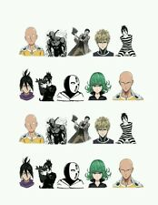 One Punch Man Anime Nail art water decals  Free Shipping