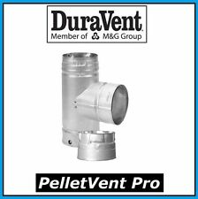 "DURAVENT PELLETVENT PRO Pipe 4"" Diameter Tee with Cap #4PVP-T NEW!"