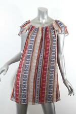MISA by T-BAGS Womens Multi-Colored Aztec Print Babydoll Shift Dress S NEW