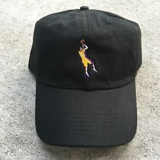 KOBE BRYANT EMBROIDERED UNSTRUCTURED DAD CAP HAT BLACK FAREWELL LAKERS NEW