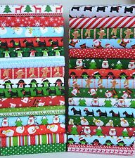 CHRISTMAS FABRIC PACK 25 PIECE POLY COTTON REMNANTS BUNDLE ADVENT PATCHWORK
