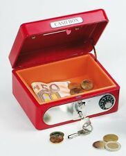 DUAL LOCK COMBINATION & KEY MONEY PETTY CASH BOX TIN SAFE 14055