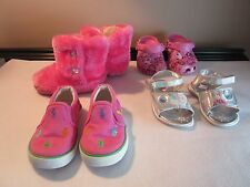 4 Pairs Toddler Girl's Size 6 & 7 Ralph Lauren Disney Hello Kitty Sandals Shoes
