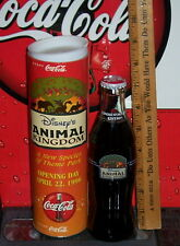 1998 DISNEY'S ANIMAL KINGDOM OPENING DAY APRIL 22 8OZ COCA - COLA  BOTTLE & TUBE