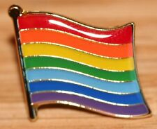 RAINBOW Flag Lapel Metal Pin Badge ~ Pride LGBT Lesbian Gay Diversity Symbol