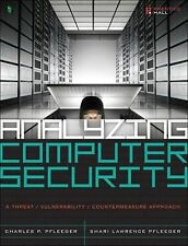 Analyzing Computer Security by Pfleeger 1st International Softcover Ed Same Book