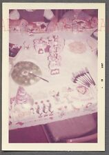 Vintage Color Photo Happy Birthday Cake Lucky Number 7 Seven 713625