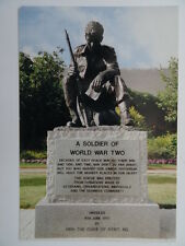 Postcard - A Soldier of World War Two Statue - D-Day Museum Portsmouth UK. New.