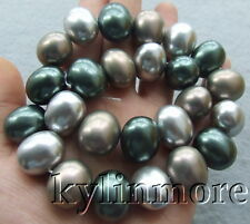"""8SE10781  15x18mm Multi Color Sea Shell Pearl Drum 15.5"""" Beads"""