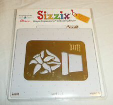 Sizzix Simple Impressions Embossing Folder Flower Potted Daffodil Plant
