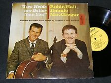 ROBIN HALL & Jimmie MacGregor MONITOR Irish & Scottish Folk Music Lp TWO HEADS!