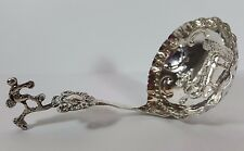 HM Silver Antique Victorian Dutch Cherub Ladle Caddy Spoon London Import 1891