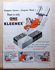 Little Lulu Kleenex color ad from 1948 w/ Marge art - Little Lulu on the Trapeze