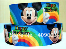 """Mickey Mouse Ribbon 7/8"""" Wide 1m is only £0.99 NEW"""