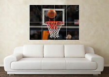 Large Basketball Hoop Ball NBA Giants Sport Wall Poster Art Picture Print