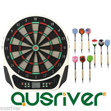 "18"" Professional Electronic Dartboard LED Scoring 10 Alu Darts Game Portreath3"