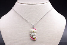 Kimora Lee Simmons Hello Kitty Surfer Kitty Beach Necklace in 925 Sterling Silve