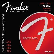 Fender 7250M Super Nickel-Plated Steel Long Scale Medium Bass Strings 45-105