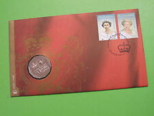 2002 QUEENS GOLDEN JUBILEE AUSTRALIA 50 cent PNC COIN COVER VERY SCARCE COIN