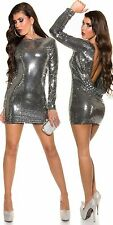 Fully sequinned silver black dress waterfall bare back sexy sparkle dress 14