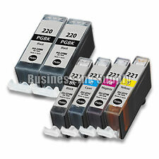 6 PACK PGI-220 CLI-221 Ink Tank for Canon Printer Pixma MX860 MX870 MP560