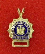 MTA Police Detective Mini Shield 14K Gold with Numbers