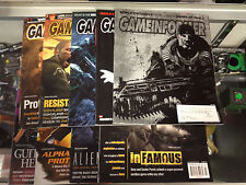 Lot Set of 9 Game Informer Magazines Gears of War Infamous Resistance PS3 Xbox