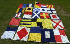 Set of 26 Vintage Nautical Signal Flags Letters A  to Z  Approx. 50 x 64 inches