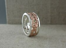Sterling Silver & 10K Rose Gold Celtic Tree of Life Ring  KEITH JACK Size 5