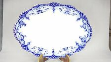 LARGE VINTAGE JOHNSON BROS JEWEL PLATTER ASHET SERVING PLATE DISH TURKEY BLUE