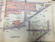 ORIG 1929 CROWN HEIGHTS BROWNSVILLE LINCOLN TERRACE PARK BROOKLYN NY ATLAS MAP
