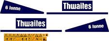 THWAITES 6 TONNE KIPPER-AUFKLEBER UND SICHERHEIT WARNUNG AUFKLEBER