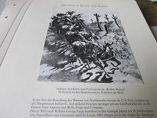 Post Archiv 4 Kunst 61 Indianer überfallen eine Postkutsche Pony Express USA