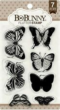 Butterfly Butterflies Clear Unmounted Rubber Stamps Set BOBUNNY 12105895 New