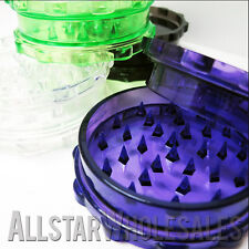 200 Pack 2 Piece Plastic Acrylic Herb Spice Grinder Multi Color Variety Grinders